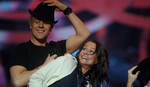 Melodifestivalen Linda Bengtzing + Martin -06